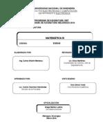 Programa de Asignatura Matematica III