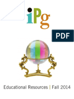 IPG Fall 2014 Educational Resources