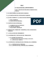Tema 7 Incentivos y Evaluacion Del Comportamiento (1)