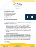 May 19, 2014 FOIA to EPA re White House review of records