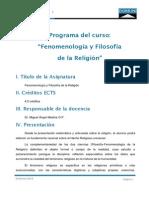 Programa Filosofia Fenomenologia Religion