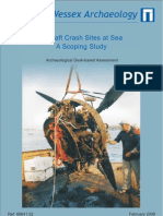 Aircraft Crash Sites at Sea - a Scoping Study project report
