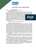 Limbajul Bazelor de Date Relationale SQL