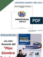 Analisis Memoria 2013 MENPET