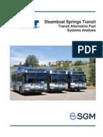 Alternative fuel analysis for SST