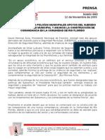ENTREGA ALCALDE A POLICÍAS MUNICIPALES APOYOS DEL SUBSIDIO PARA LA SEGURIDAD MUNICIPAL Y ANUNCIA LA CONSTRUCCIÓN DE COMANDANCIA EN LA COMUNIDAD DE RIO FLORIDO