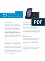 Dell Venue 8 Pro Tablet Spec Sheet