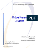 Windows Forensics Exercises