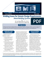 Welding Issues For Seismic Design Requirements - 2008