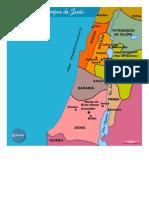 Mapa de Palestina en Tiempos de Jesús