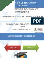 Convocatoria Creditos y Subsidios SED