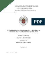 García Torres, Beatriz - La Crónica Mexicana Contemporánea a Trevés de Los Textos de Juan Villoro y José Joaquín Blanco