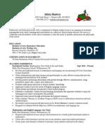 alicia shalvey   resume