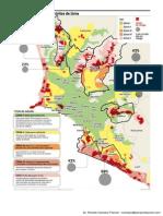 Mapa de Suelos en los Distritos de Lima