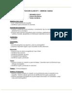 Planificacion Lenguaje 8basico Semana4 Marzo 2014