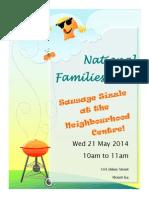 Families Week Sausage Sizzle