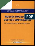 Nuevos Modelos de Gestion Empresarial. Outsourcing de Procesos de Negocios 1
