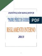 Reglamento Interno I.E. PPG