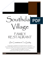 southdale village - restaurant menu 032614