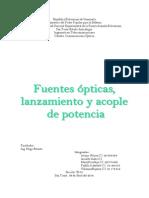 Fuentes Opticas, Lanzamiento y Acople de Potencia COMPLETO