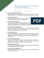 Relaciones Del Derecho Administrativo Con Otras Discipinas o Ciencias