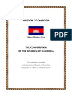 Constitution of Kingdom of Cmabodia