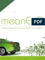 MeanEco Environmentally Friendly Taxi Service