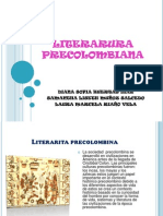 LITERARURA PRECOLOMBIANA