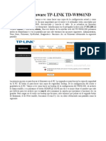 Actualizar Firmware TP-LINK TD-W8961ND