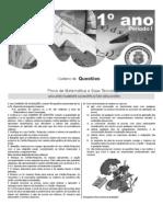 Matemática e Suas Tecnologias Avaliação 1ANO 2014 1
