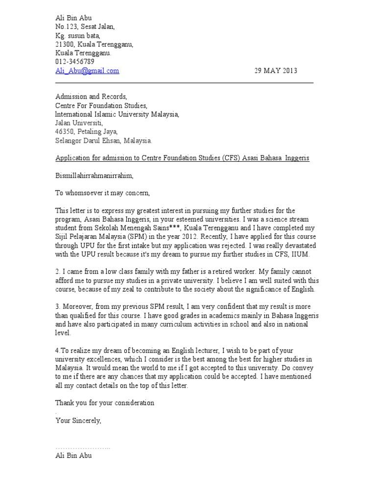 Contoh Surat Rasmi Permohonan Sijil Hilang - Rasmi X