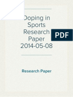 Doping in Sports Research Paper 2014-05-08