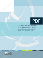 Best and Worst Place to Be a Woman in Canada