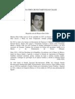 Biografia Corta de Plutarco Elias Calles