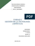 Innovacion Tecnologica Opinion