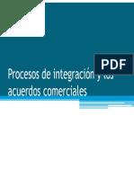 Procesos de Integración y Los Acuerdos Comerciales