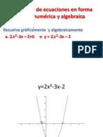 Resolución de Ecuaciones en Forma Gráfica Numérica 3