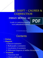 Midline Shift / orthodontic courses by Indian dental academy
