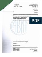 Norma Desempenho Edificações NBR 15575