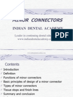 Minor Connectors / orthodontic courses by Indian dental academy