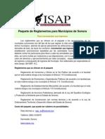 Paquete Reglamentos Municipales Isap