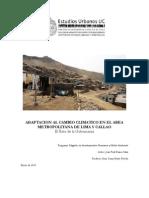Adaptación al Cambio Climático en el Area Metropolitana de Lima y Callao