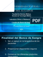 Completo Proceso Componentes Sanguineos+ Banco de Sangre