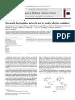 Heterocyclic Fused Pyridone Carboxylic Acid M1 Positive Allosteric Modulators 2010 Bioorganic & Medicinal Chemistry Letters