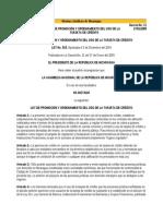 Ley 515 Ley de Promocion y Ordenamiento Del Uso de La Tarjet