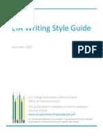 e i a Writing Style Guide