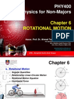 PHY 400 - Chapter 6 - Rotational Motion
