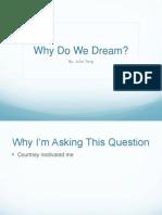 why do we dream