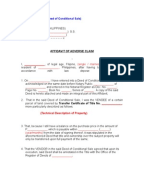 Sample Conditional Deed Of Sale Deed