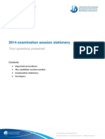 May 2014 Examination Session Stationery